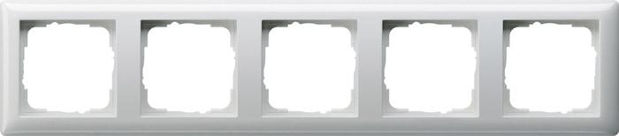 Gira 5F-Abdeckrahmen 021503 Standard 55 Reinweiß glänzend