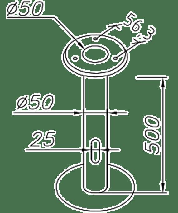 """Norlys Erdbodenhalter Verzinkt """"Oppland, Halmstadt"""" Art. 206ZZ"""