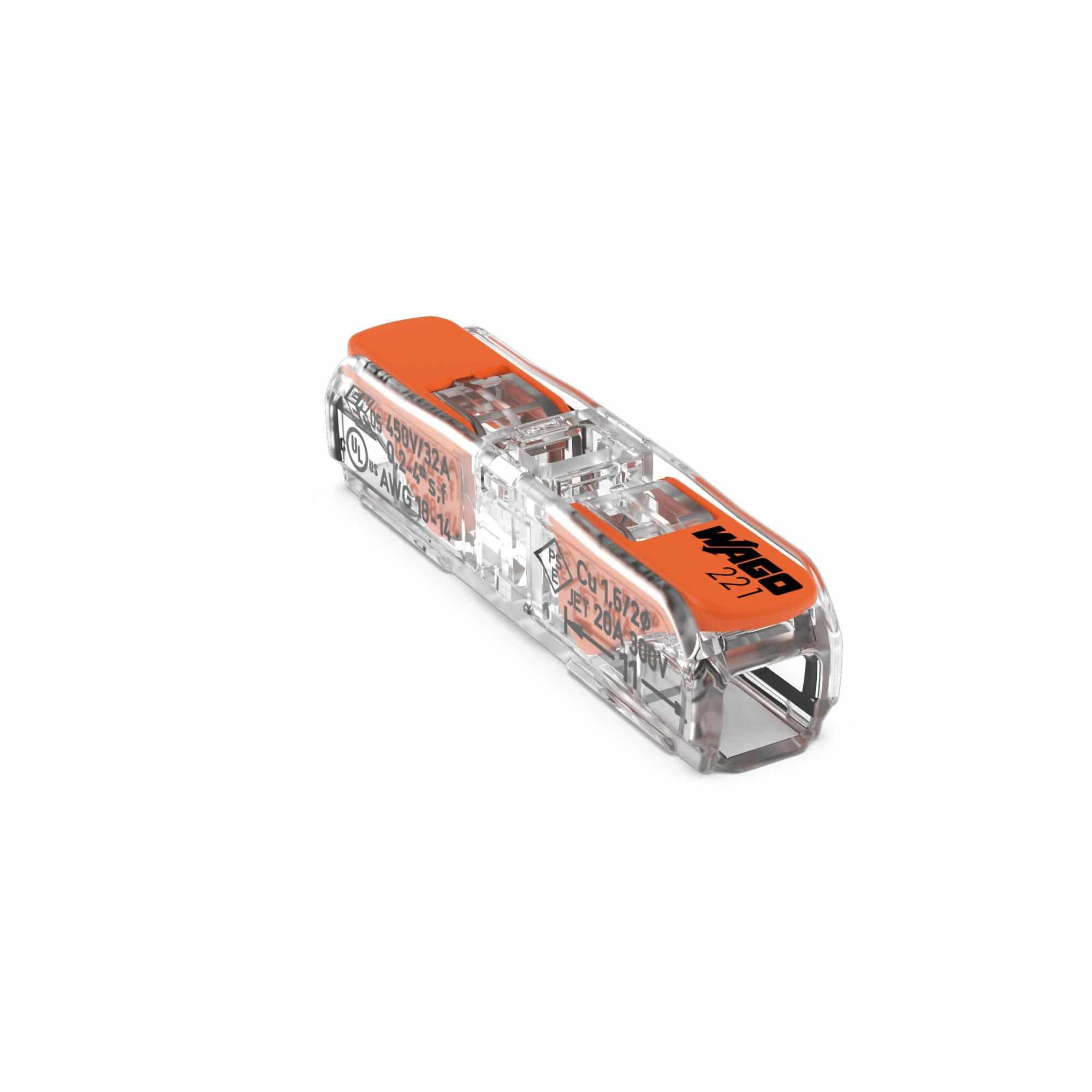 WAGO 221-2411 Durchgangsverbinder mit Hebel max 4mm² VPE60