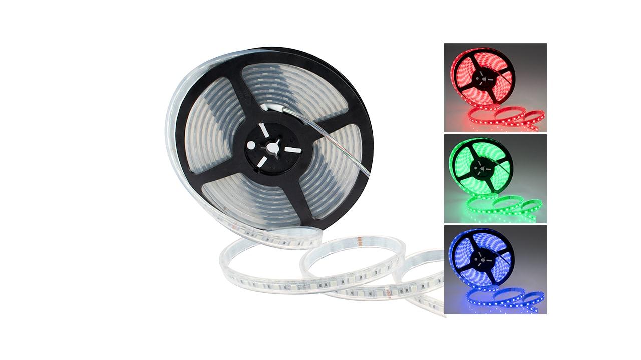 Rolux RGB Streifen, 5m, 14,4W/m 72W 24V DC 5400lm  IP68 12mm #5050144068