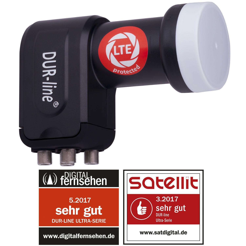 Dura Sat DUR-line +Ultra Quattro - LNB Für Multischalter - Mit integrierten LTE- und DECT-Filtern gegen Störfrequenzen