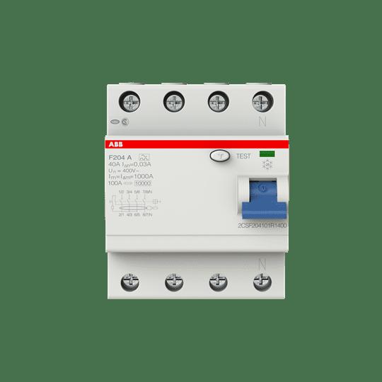 ABB F204A-40/0,03 FI-Schutzschalter 40A 4P 30ma