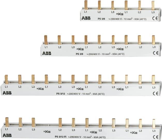 ABB PS3/12FI - Phasenschiene 8SI + FI