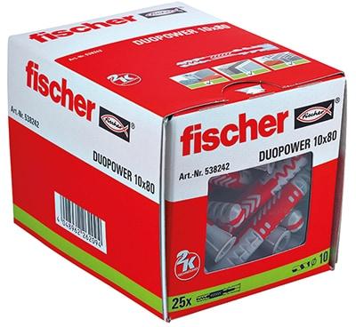 fischer Dübel DUOPOWER 10 x 80 VPE 25 538242