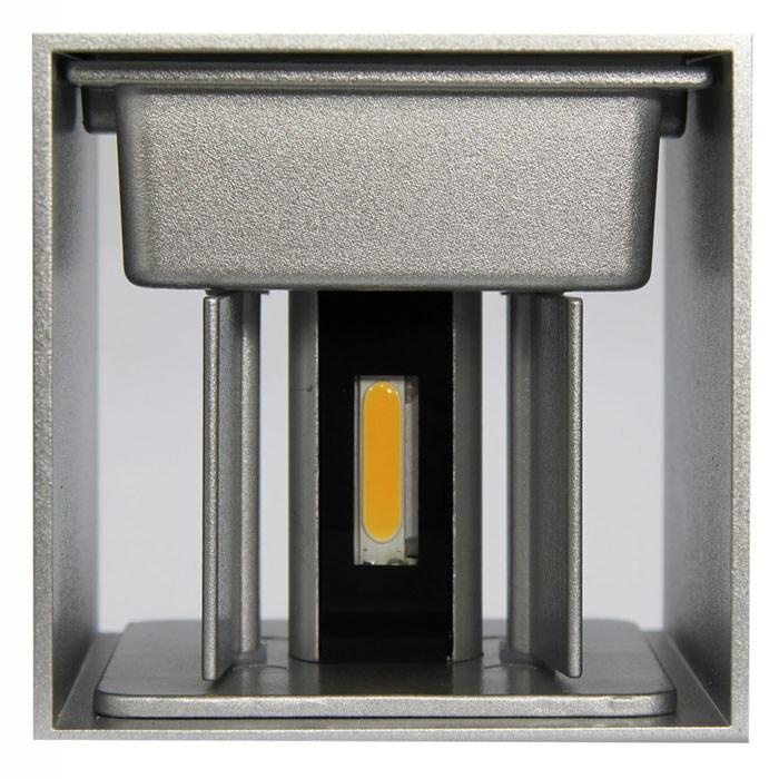 "M-Light LED Außenwandleuchte ""CUBE"" 6W 3000K 500lm 0-120° WInkel 100x100x100mm 81-4007"