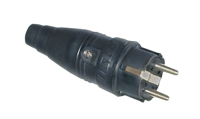 Erso Vollgummi-Industriestecker 230V IP44 VSI 2218