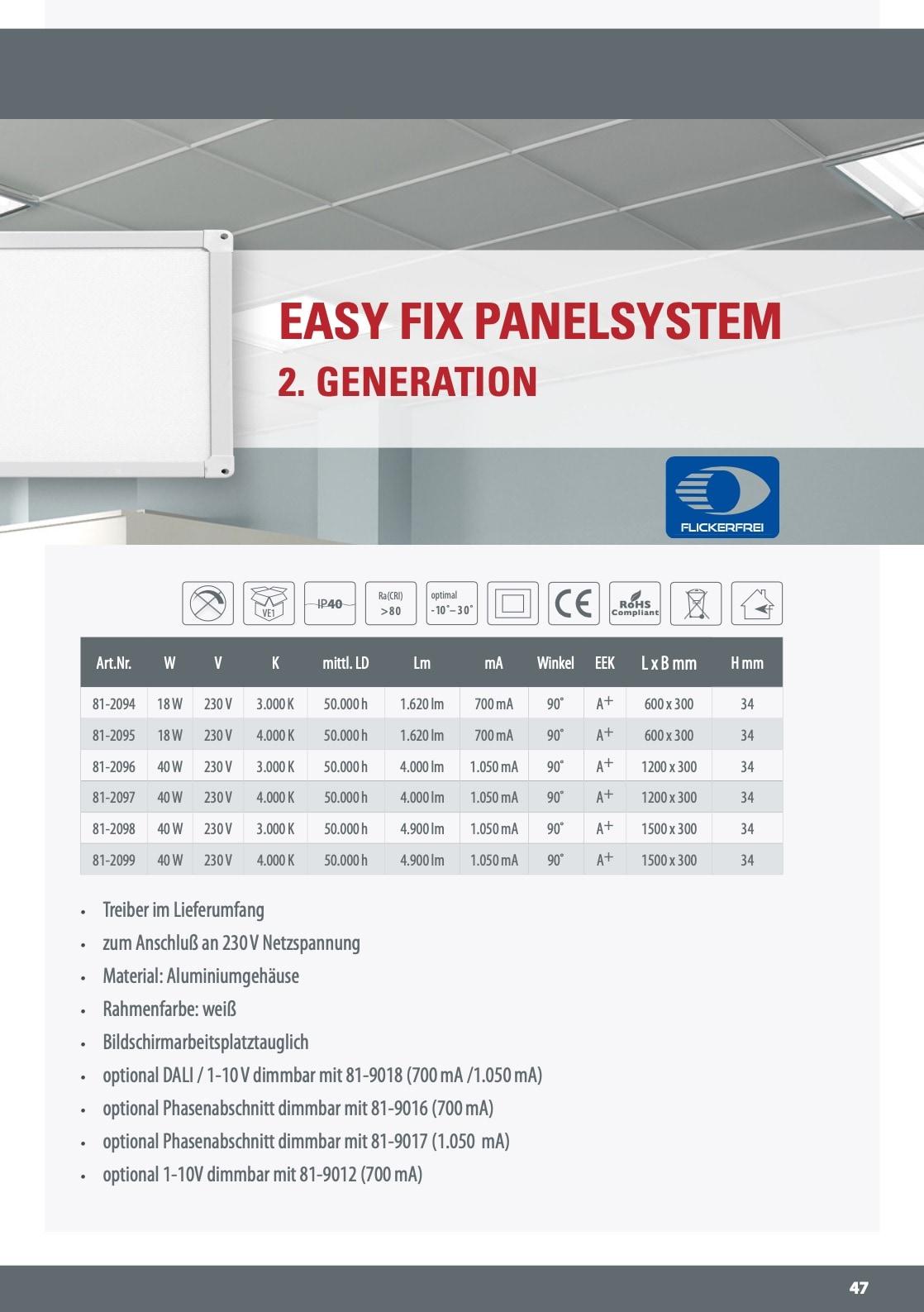 M-Light LED Deckananbau Panel UGR>19 1200x300x34mm 40W 4000K 4000lm weiß 81-2097