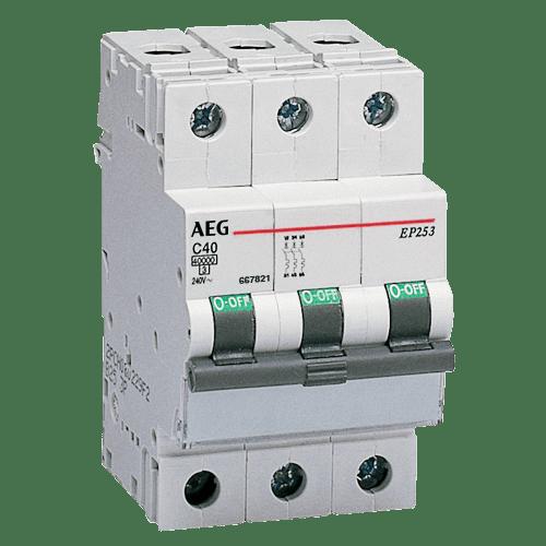 AEG EP63 B16 - LS-Schalter 6kA 3P 16A, B-Charakteristik 4TQA667224R0000