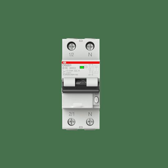 ABB DS201A-B16/0,03 FI/LS-Schalter 6kA, 1P+N, Typ A, B 16, 30mA