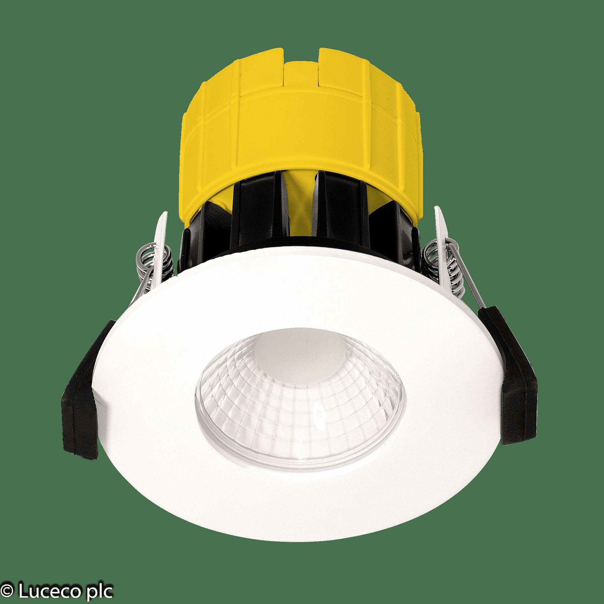 "Luceco LED Einbaustrahler ""FTYPE"" 6W 460lm 2200-2700K dim. IP65 weiss #EFTD2W"