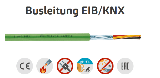 Busleitung EIB/KNX 2x2x0,8 Grün RG100