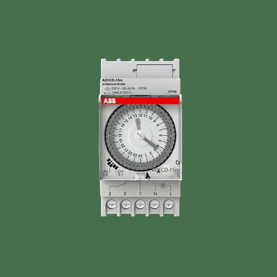 ABB Analoge Zeitschaltuhr AD1CO-15m Tagesprogramm Hutschiene 2CSM222421R1000