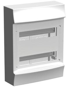 Striebel & John M41W224N3 Stromkreisverteiler Aufputz 2x12 PLE ohne Tür