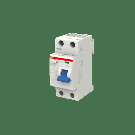 ABB F202A-25/0,03 FI-Schutzschalter 25A 2P 30ma 2CSF202101R1250