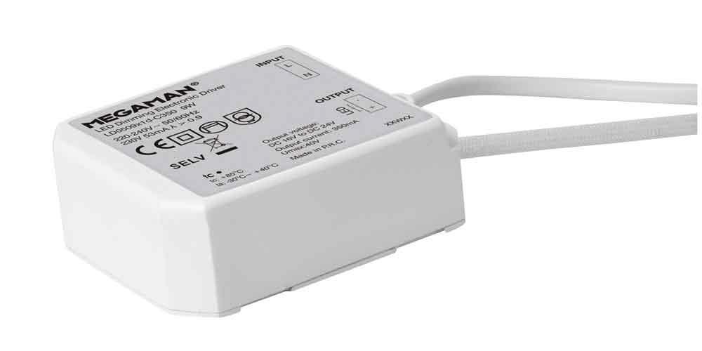 "Megaman elektr. LED-Treiber dimmbar DC 16-24V / bis 9W für ""Rico"" LED Einbaustrahler MM56017"