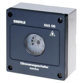 Eberle Dämmerungsschalter AC 230V, 1S, 10A, ca. 1...100Lux, Schutzart IP 54 DÄ56508
