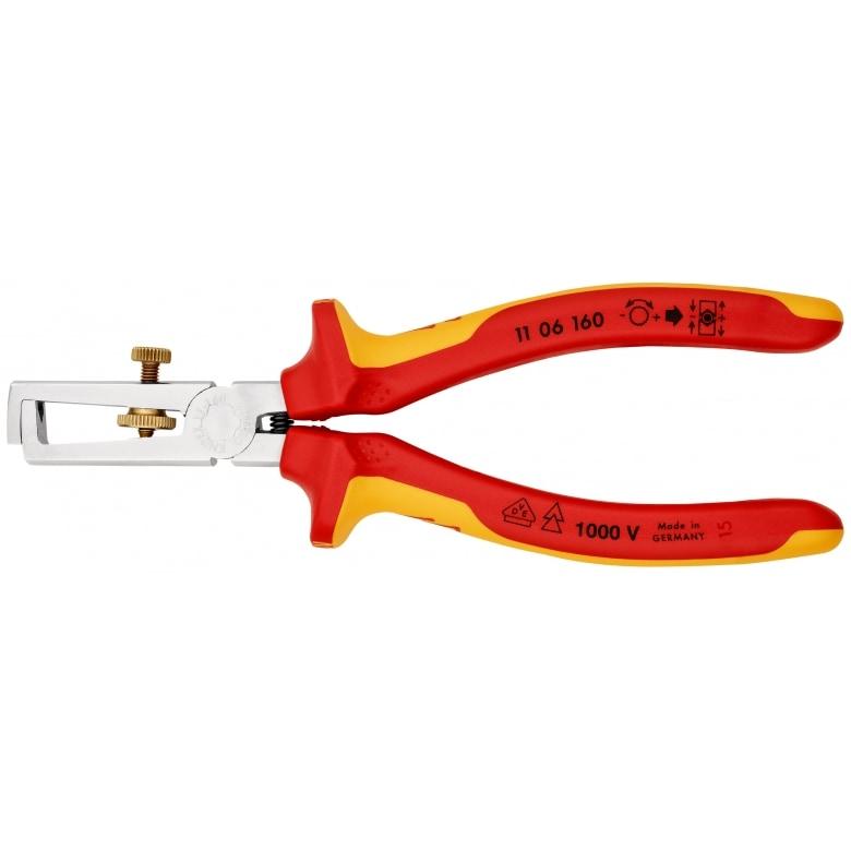 Knipex Abisolierzange mit Öffnungsfeder, universal  1106160
