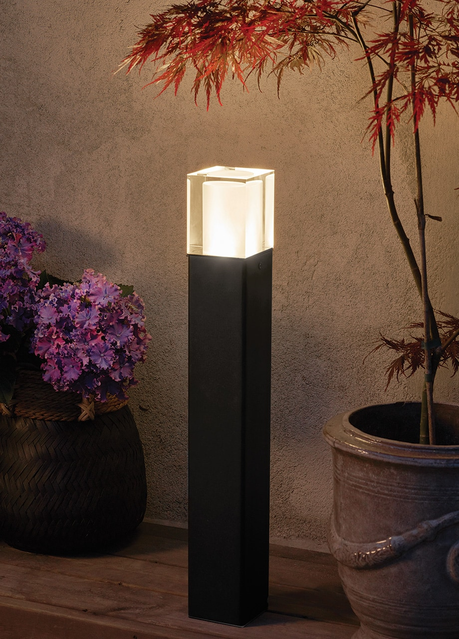 Norlys LED Poller Arendal schwarz 64,2x9cm 4W 439lm 3000K schwarz 1561SW