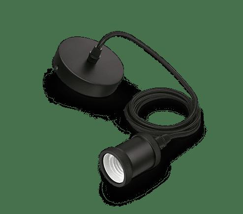 Philips Vintage LED Pendel mit E27 Farbe schwarz 2 Meter 167762
