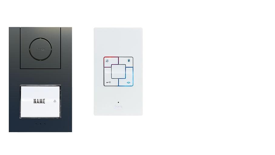 M-E  Audio-Türsprechanlage ANTHRAZIT 1-Familienhaus Set Aufputz AD ALU 4010 A