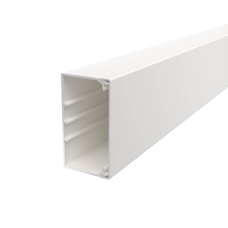 OBO Bettermann 60x110 WDK60110RW Wand+Deckenkanal mit Bodenlochung 60x110mm 2 Meter PVC reinweiss