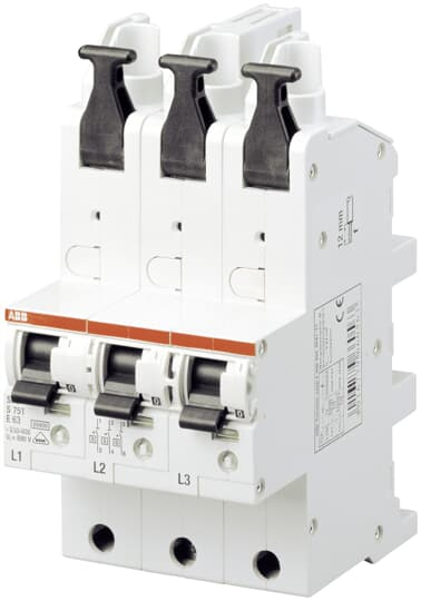 ABB S751/3-E50 sel. Haupt-LS SHU E-Char.,25kA,50A,3x1P