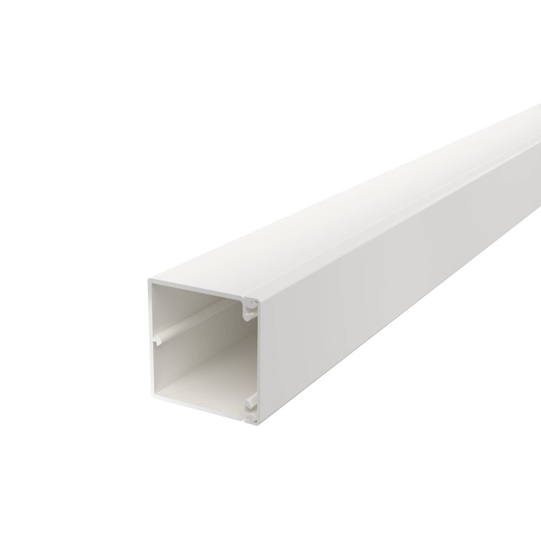OBO Bettermann 60x60 WDK60060RW Wand+Deckenkanal mit Bodenlochung 60x60mm 2 Meter PVC reinweiss