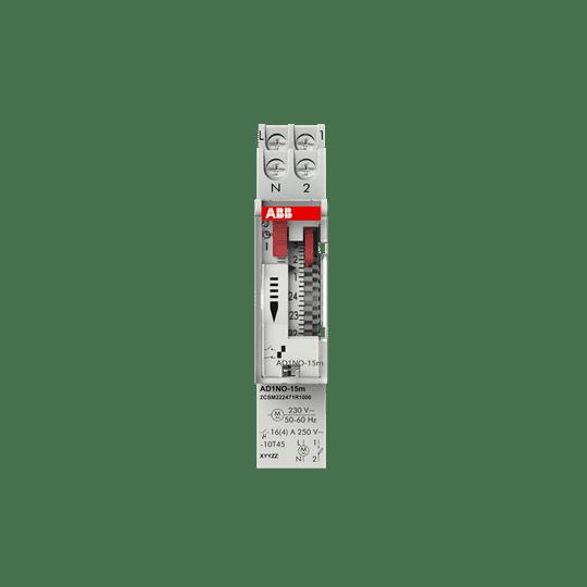 ABB Analoge Zeitschaltuhr AD1NO-15m Tagesprogramm Hutschiene 2CSM222471R1000