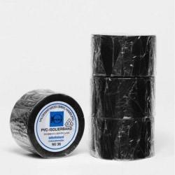 V. Krog Isolierband 20 m x 50 mm schwarz selbstklebend & elastisch VDE geprüft