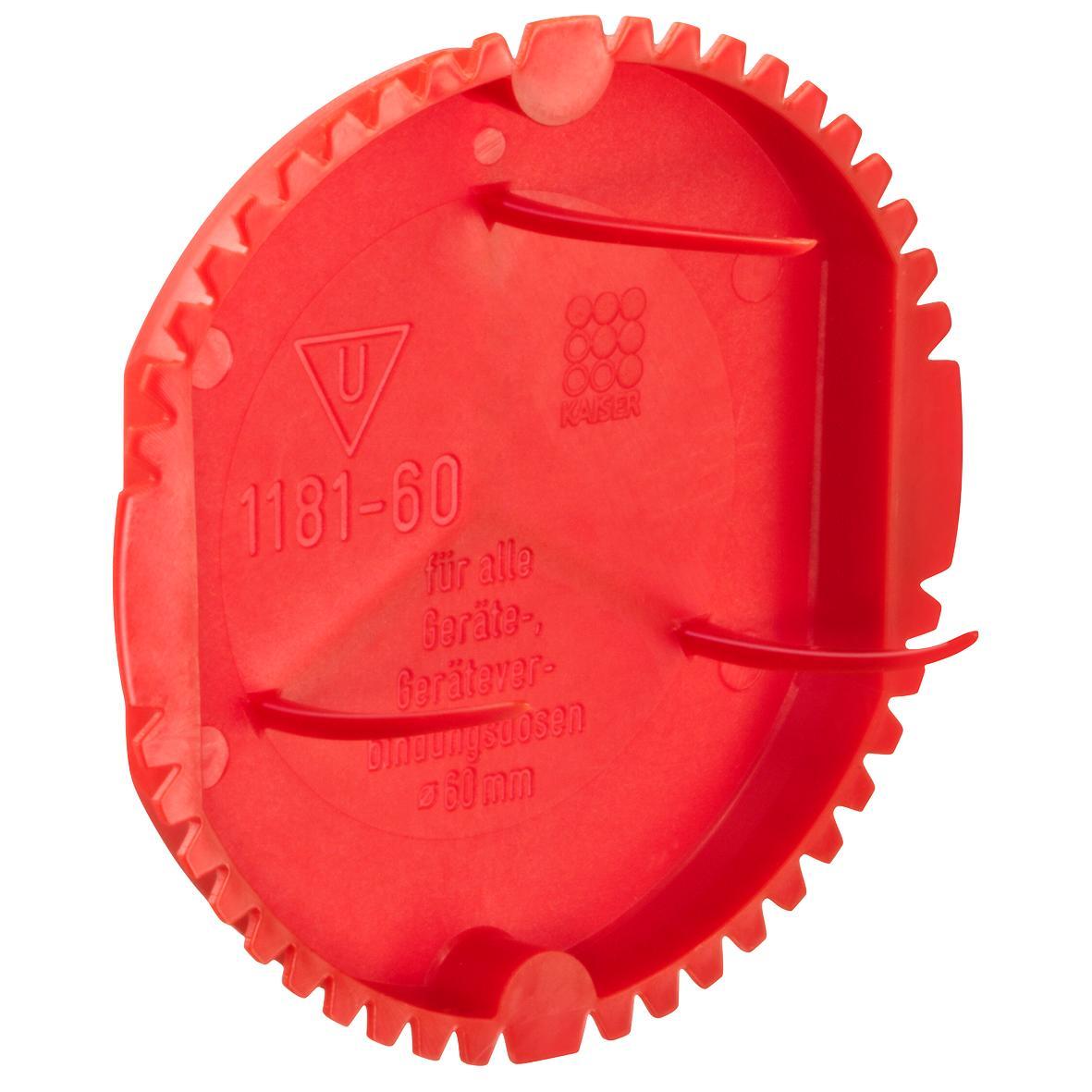 Kaiser Signaldeckel rot 60mm  1181-60
