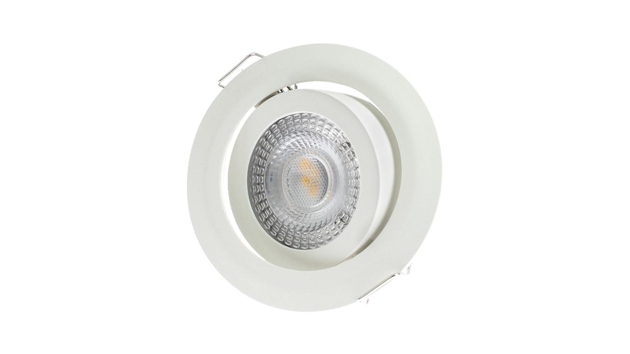 """Rolux LED-EINBAULEUCHTE weiss """"DF-9243-3"""" 5W 3000K dimmbar 30mm Einbautiefe #0150924331"""