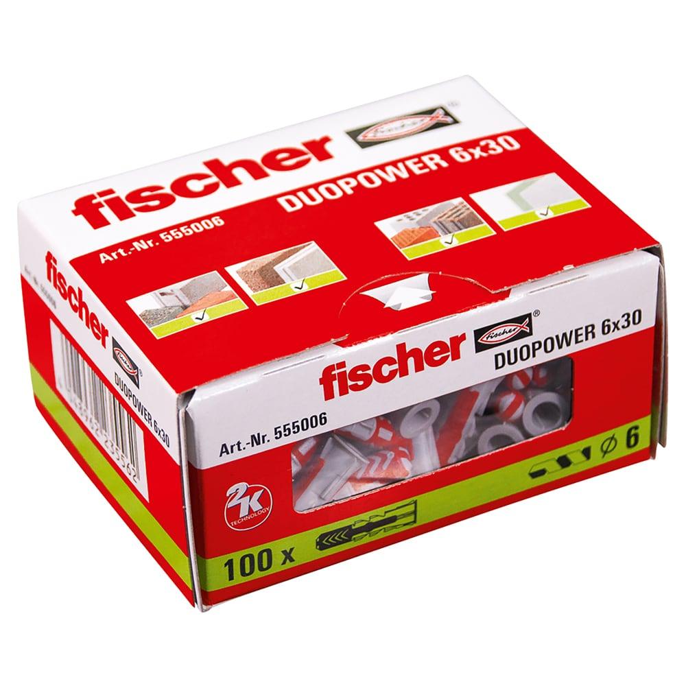 fischer Dübel DUOPOWER 6 x 30 VPE100 #555006