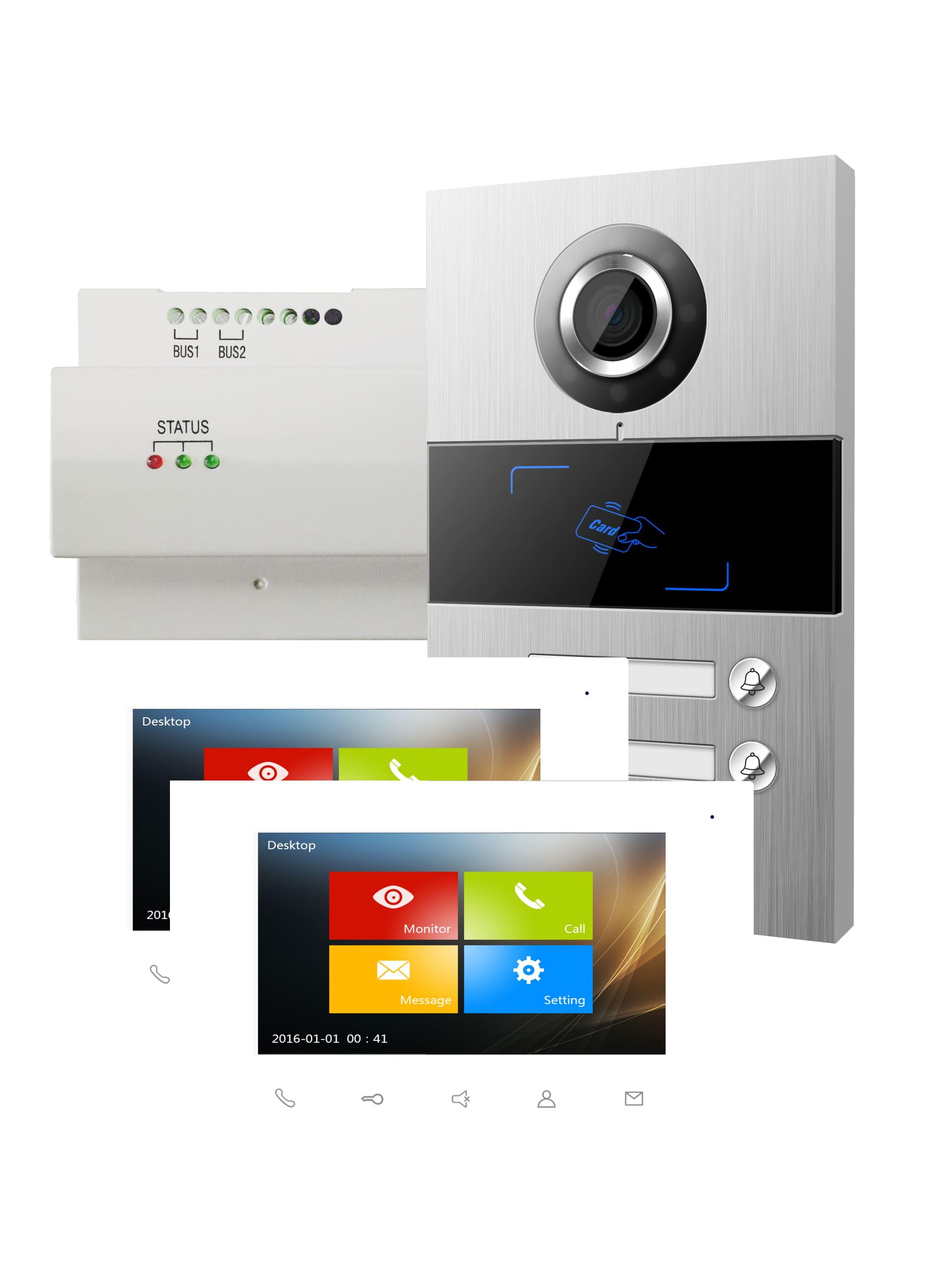 Viko Panasonic Video Türsprechanlagen Set VILLA SET 2 2-Familien-Set