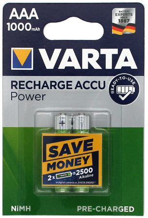 VARTA Accu 5703 Ready2Use AAA 1000mAh Bister 2