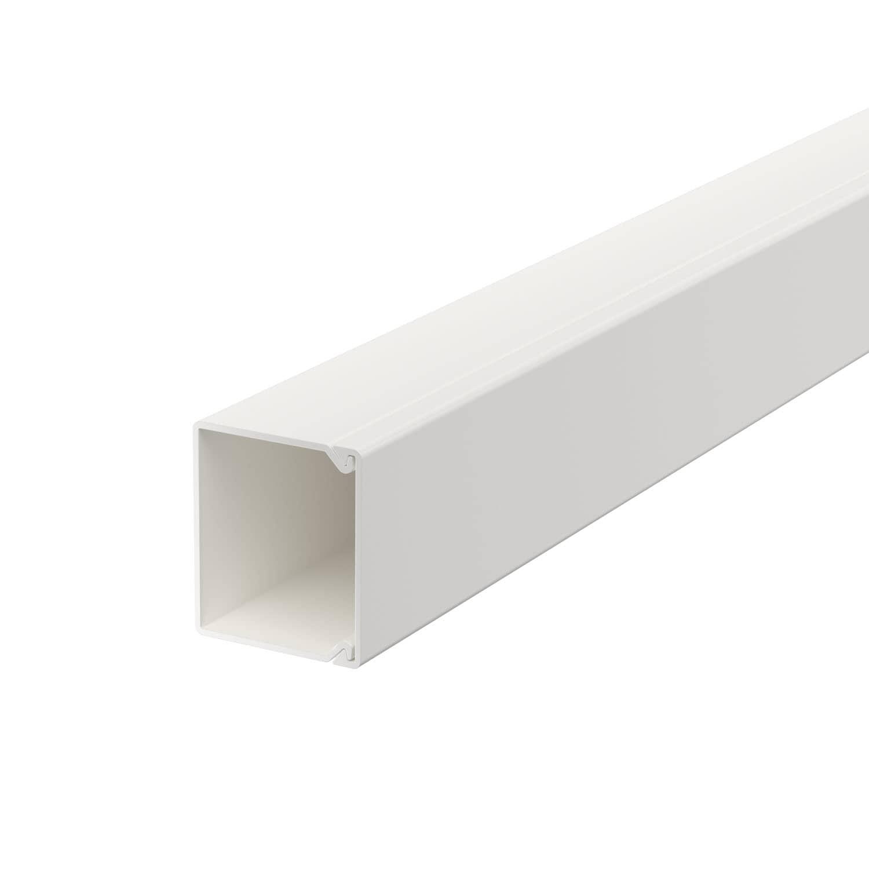 OBO Bettermann 30x30 WDK30030RW Wand+Deckenkanal mit Bodenlochung 30x30mm 2 Meter PVC reinweiss