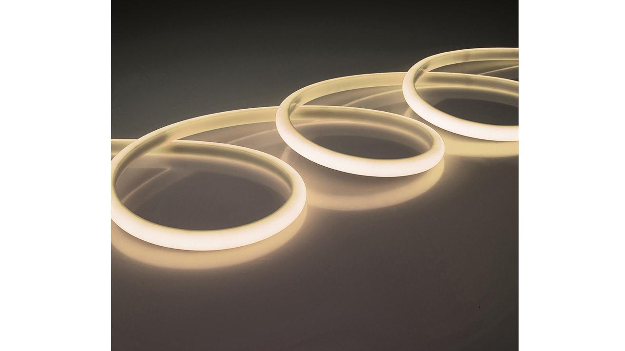 Rolux LED Streifen 5m, 14,4W/m, 3000K 24V DC warmweiss IP68