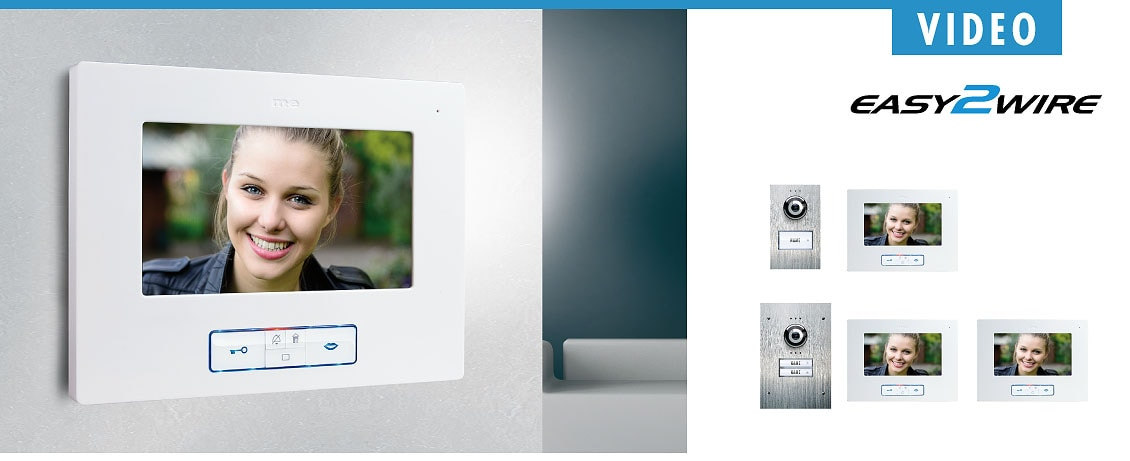 M-E 2-Familien Türsprechanlage EASY2WIRE AP Video-Türsprechanlage VDB-6270