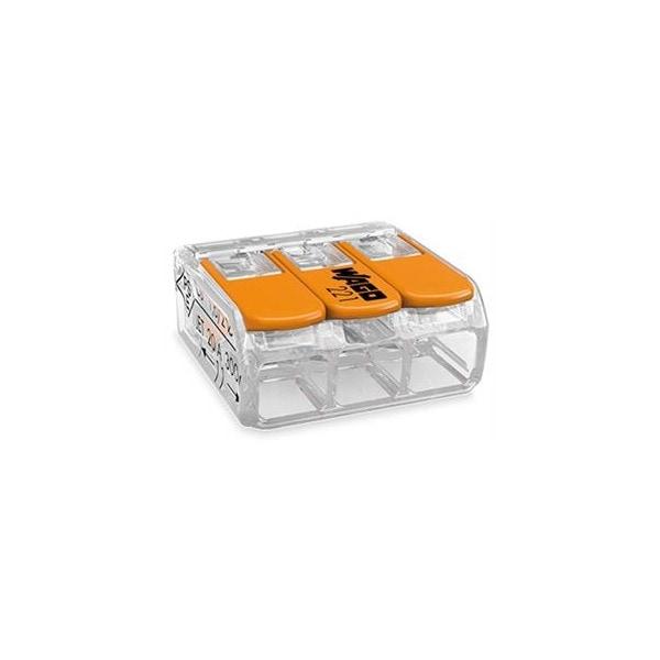 WAGO 221-413 3-Leiter starr flexibel bis 4mm² Compact-Verbindungsklemme VPE50
