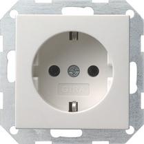 Gira 018803 System 55 Schuko-Steckdose Reinweiß glänzend
