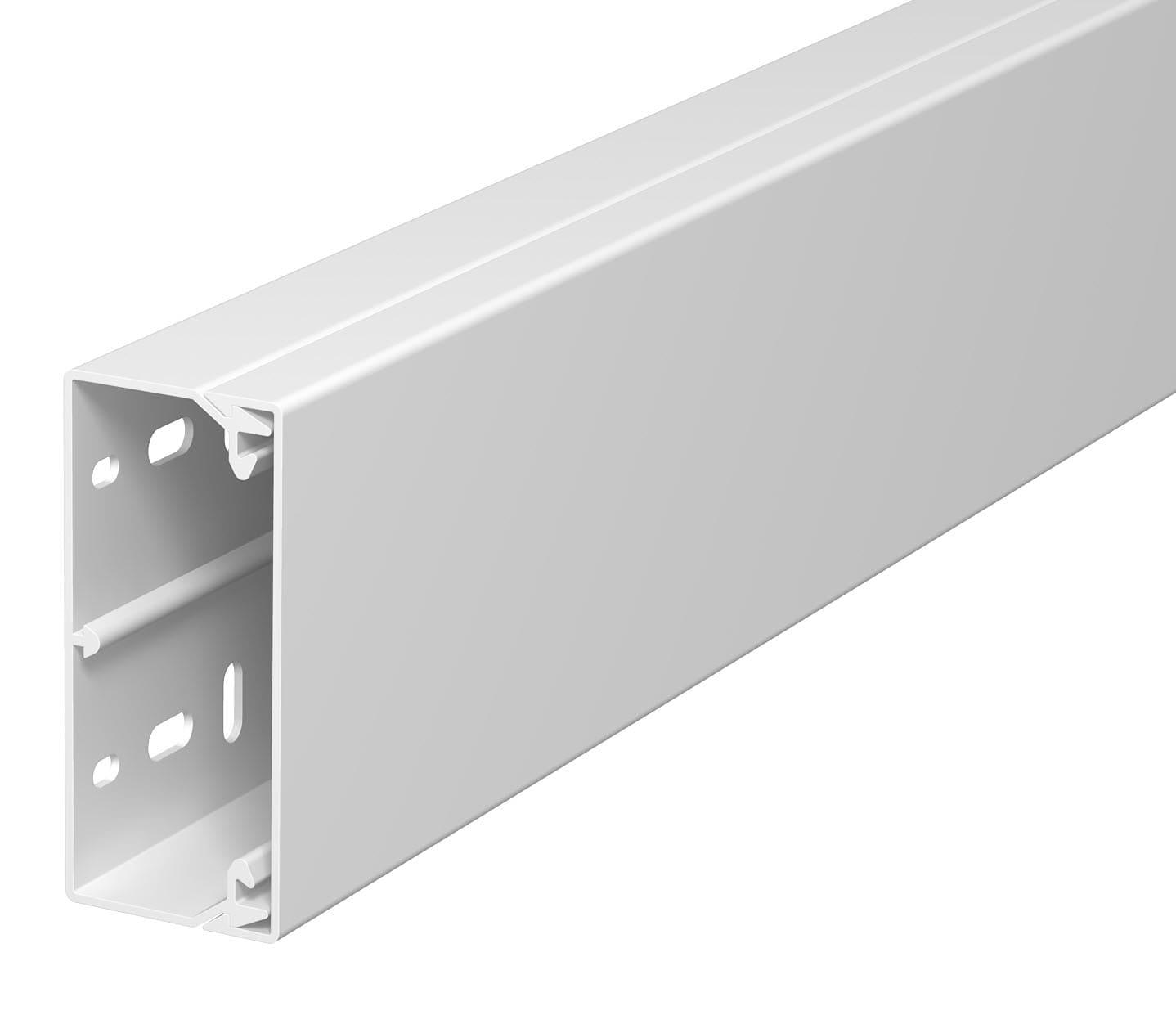 OBO Bettermann 40x90 WDK40090RW Wand+Deckenkanal mit Bodenlochung 40x90mm 2 Meter PVC reinweiss