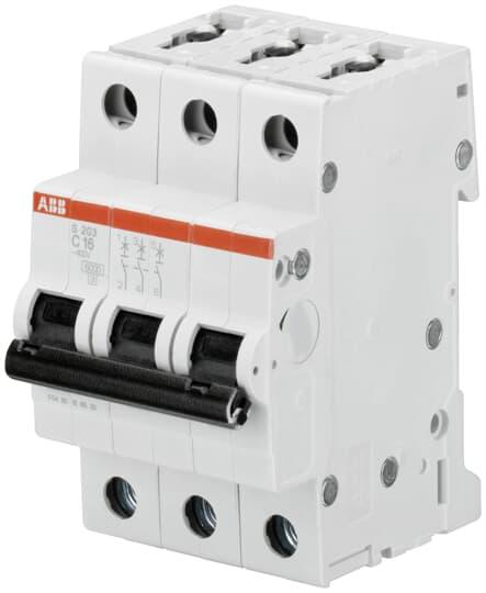 ABB S203-C16 Sicherungsautomat 6kA 16A C 3polig 2CDS253001R0164