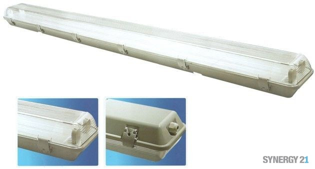 Synergy 21 FR-Wannenleuchte für 2x230V LED-Röhre 1,50m IP55
