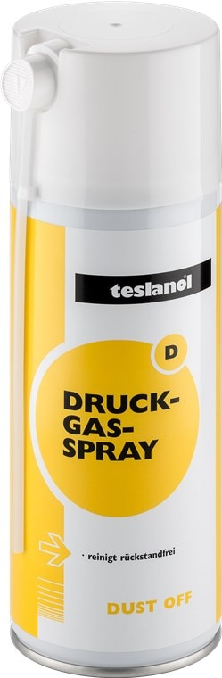 Teslanol  Druckgasspray zum Reinigen und Entstauben von elektronischen und feinmechanischen Geräten - 400 ml